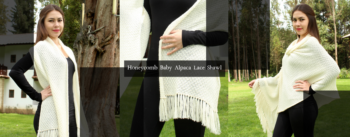 Honeycomb Baby Alpaca Lace Shawl